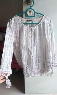 Massimo dutti stripe blouse