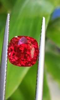 2.86ct lux Pigeon blood red Spinel from natural Maymmar Mogok