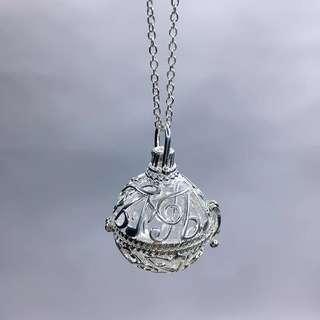香薰精油頸鏈,四色:金,銀,古銅,玫瑰金