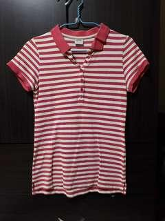 🚚 Red Striped Polo Tee