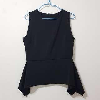 ✨ BN Black Asymmetrical Sleeveless Top