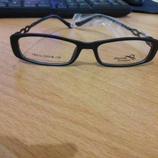New Kacamata Bening Fashion Import Keren Gagang Bermotif Metal Bs Ganti Lensa