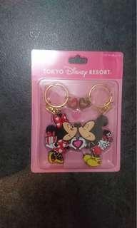 全新日本東京廸士尼Tokyo Disney Resort 米奇米妮 Mickey and Minnie Mouse 鎖鑰扣 Key chain $50