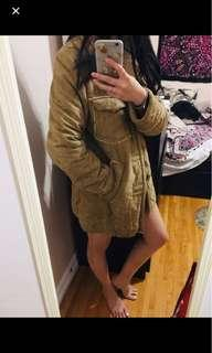 REDUCED Faux suede and Sherpa coat