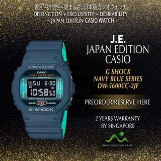CASIO JAPAN EDITION G SHOCK CLASSIC NAVY BLUE SERIES DW-5600CC-2JF