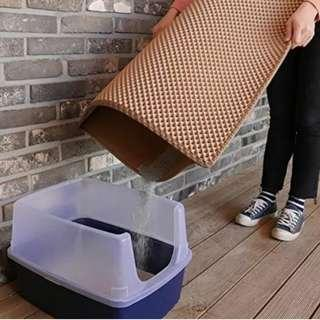 Cat Litter Box Trapping Mat Sand Xlarge Size Best Seller Now Offer $20 Wine Colour