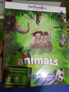 Fairprice xtra animal card collection album
