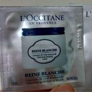 Loccitane Reine Blanche Whitening Sleeping Mask sample