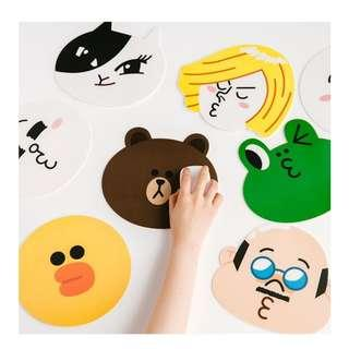 READY STOCKS LINE friends mouse pad (unofficial)