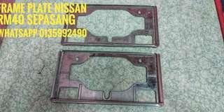 frame plate nissan