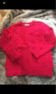 REDUCED Christmas cable knit sweater