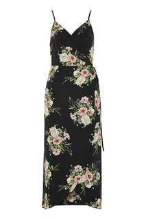 Topshop Strapy Floral wrap dress