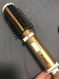Hair curler with dryer