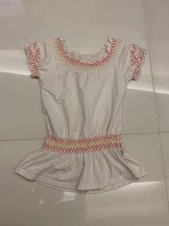 Embroidery white top (size 9)