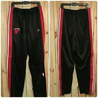 Miami Heat Adidas Black Tear Away Track Pants(Large)