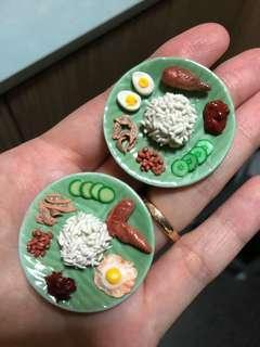 Handmade Miniature Nasi Lemak (Clay)