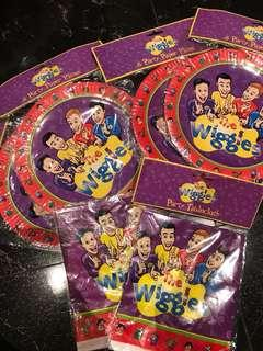 Wiggles Party Plates and tablecloths