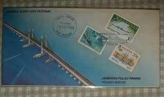 First Day Cover - Penang Bridge