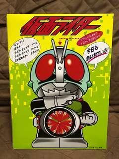 全新 日版 Rhythm 麗聲鐘錶 Masked Rider 仮面超人 幪面超人1號 眼部著閃燈 日文發聲 景品 聖誕禮物
