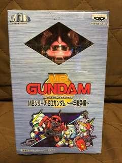 全新 日版 Banpresto 眼鏡廠 1998 MB Gundam MS-06S  紅彗星 好渣古 SD高達 The One Year War 一年戰爭編 機動戰士 高達 小合金 Figure 景品 聖誕禮物