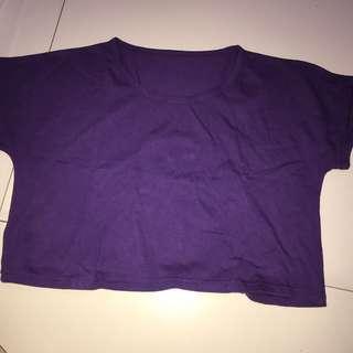 Purple crop top (baju ungu)