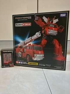 Takara Transformers Masterpiece MP 33 Inferno with OP exclusive mini die cast figure