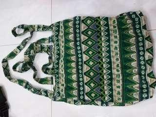 Sling Bag(White,green and brown)