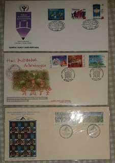 """3 First Day Covers with the theme """"fight against social ills"""""""