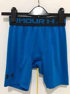 Under Armour compression shorts blue size small