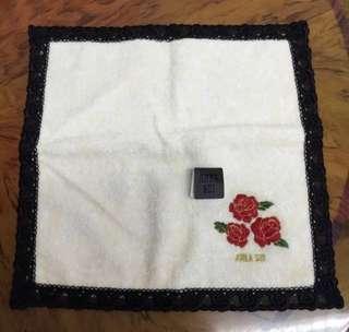 Anna Sui 毛巾 玫瑰花 手帕 手巾