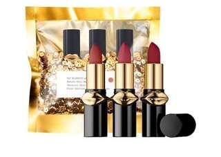 (預訂)斷貨王 Pat Mcgrath Labs LUST: Mini MatteTrance™ Lipstick Trio 迷你啞光唇膏三支組