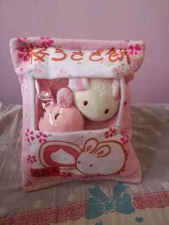 Pillow with soft toys