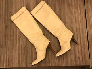 IT -米色Leather boots