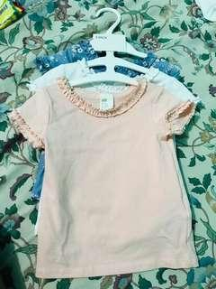 H&M ruffled t-shirt or top for baby
