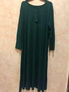Long dress bahan kaos strectch adem