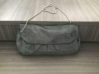 BCBG sliver clutch bag