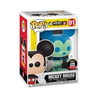 🚚 Funko Pop Disney Limited Edition Blue & Green Mickey Mouse #01