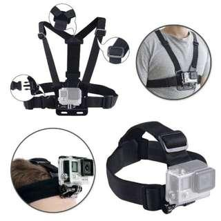 READY STOCK HEAD & CHEAT STRAP FOR ACTION CAMERA