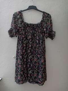 Floral long blouse