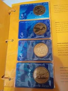 Sydney 2000 olympic coin奥運澳元5元 28  枚