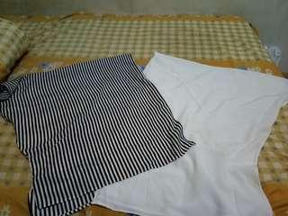 Shirt putih lurik