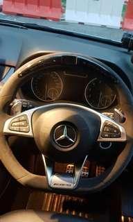 Mercedes W176 W117 W246 X156 full alcantara led steering