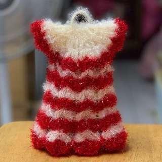 🚚 韓國帶回 白紅 禮服造型 手工編織 絲光菜瓜布