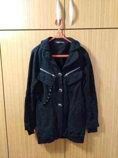 ZARA黑色個性風外套