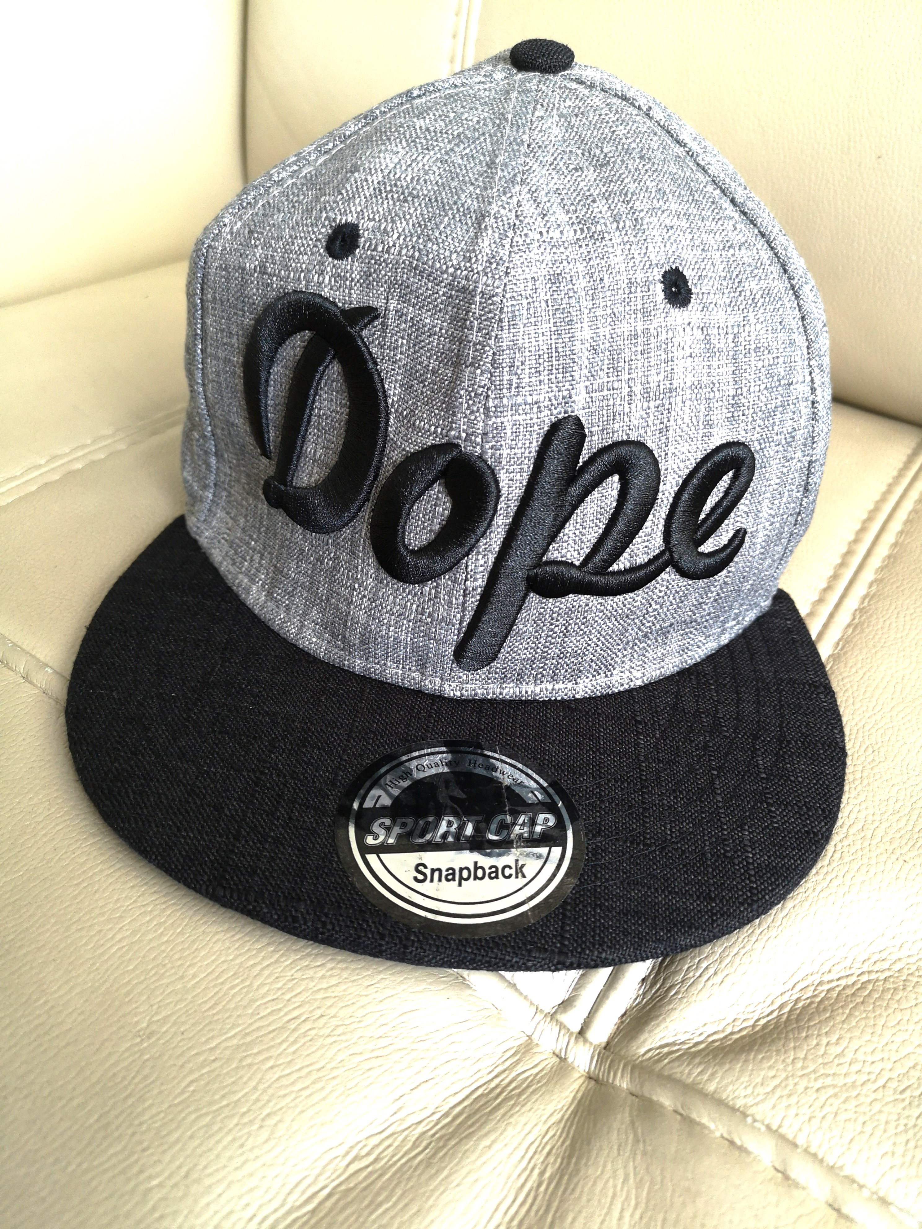 new style 51d19 bd873 DOPE Grey Snapback Cap, Men s Fashion, Accessories, Caps   Hats on Carousell