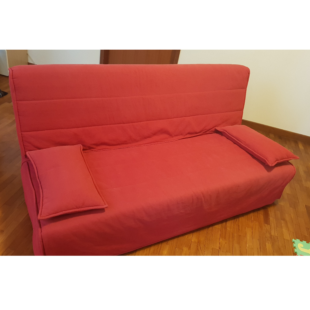 3 Seats Sofa Bed Ikea With Mattress Cover And Storage Box