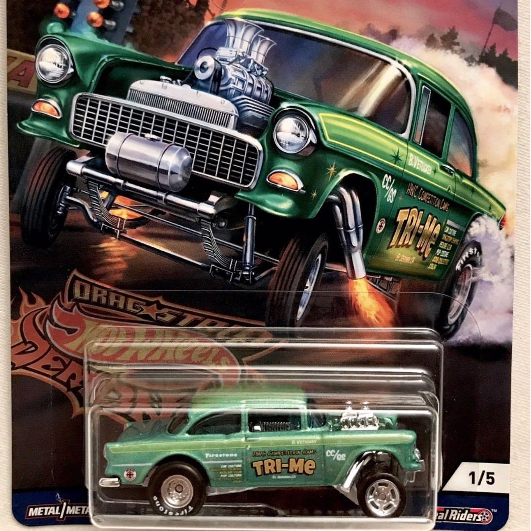 55 Chevy Bel Air Gasser - Green - from the 2018 Drag Strip