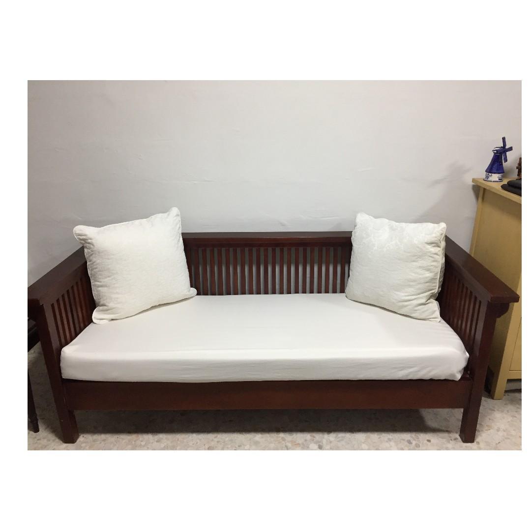 Beautiful Elegant 3 Seater Wooden Sofa