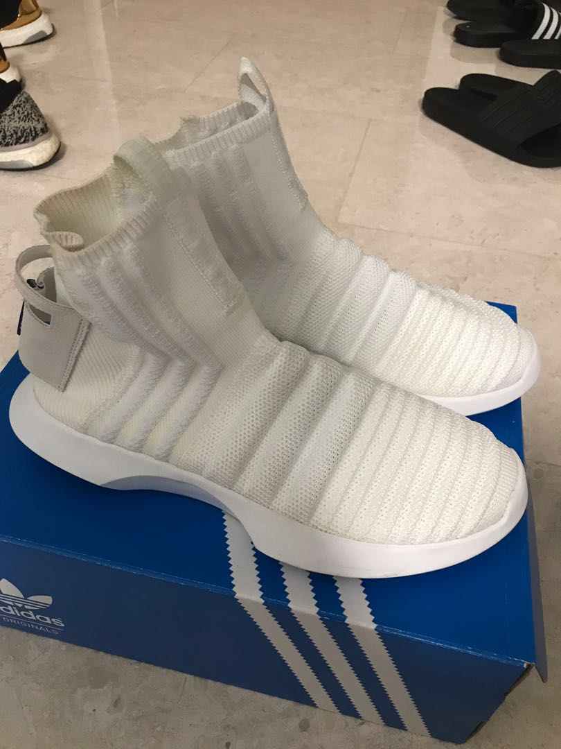 release date e61f8 369d4 Adidas Crazy 1 Adv Sock PK (ASW), Mens Fashion, Footwear, Sneakers on  Carousell