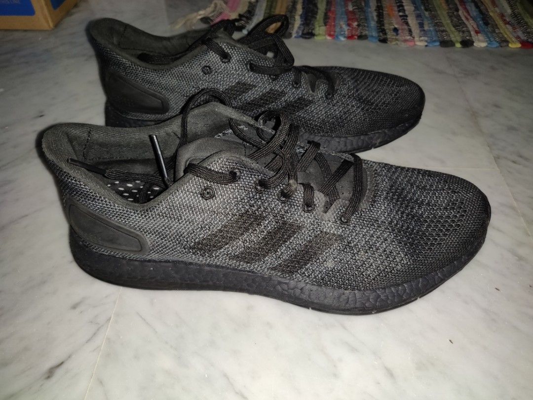 5b83fd3acb9 Adidas Pureboost DPR Triple Black Without Box